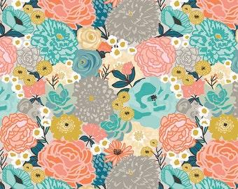 1 Yard Ava Rose by Deena Rutter for Riley Blake Designs-  5870 Multi Main