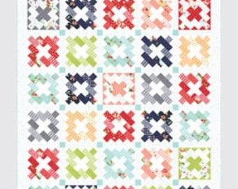 """Vintage Remix Pattern by Camille Roskelley of Thimble Blossoms -211 Finished Quilt Size- 72"""" x 84"""""""