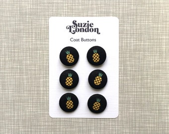 Disco Pineapple Coat or Cardigan buttons by Suzie London