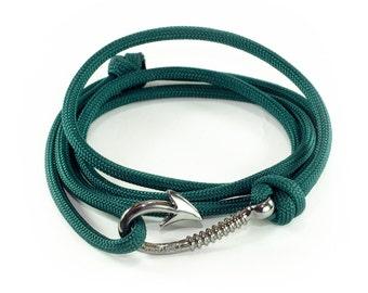 Fishhook Paracord Wrap Rope Bracelet