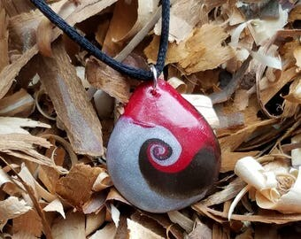 Polymer Clay Waves of Earth Necklace