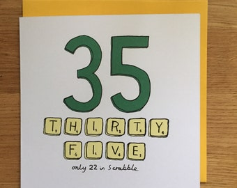 35th birthday card / 35th / scrabble / 35