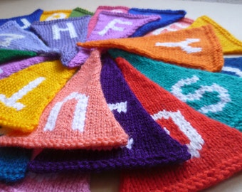 Knitted Alphabet Bunting
