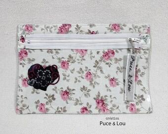 transparent pouch rose heart