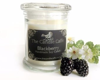 Blackberry Scented Soy Candle | 12 Ounce Status Glass Jar