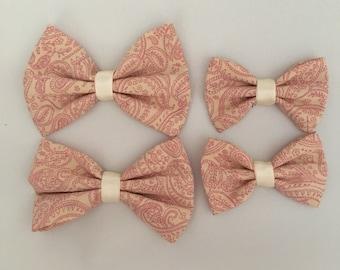 Pink Paisley Bow