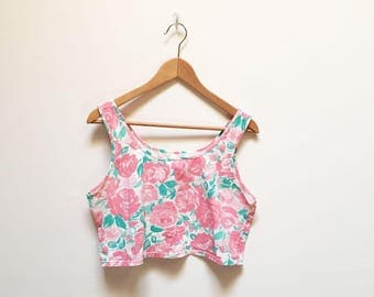 Chic by H.I.S. Abstract Floral Crop Tank
