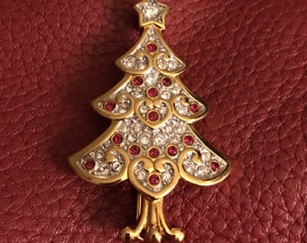 SWAROVSKI CHRISTMAS TREE Brooch Retired