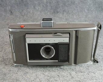 Vintage Polaroid Land Camera Model J66 In A Polaroid Case Untested