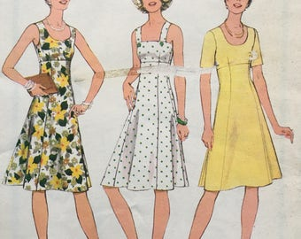 Vintage Sewing Pattern 1970s Style 1131 Ladies Dress Size 14.5 Bust 94cm