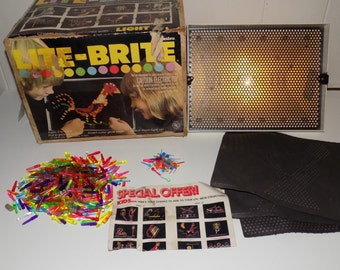Vintage Lite-Brite toy manufactured by Hasbro Industries 1973