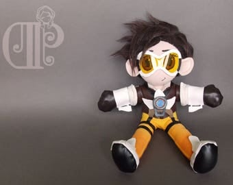 Tracer Overwatch Plush Doll Plushie Toy