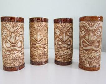 Vintage Tiki Glasses Set of Four