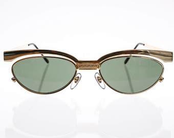 Women's Cat Eye Floating Lens Metal Sunglass Optical Frame - Trina