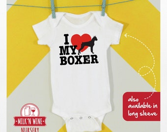 I Love My Boxer, Onesie®, bodysuit, romper, under shirt