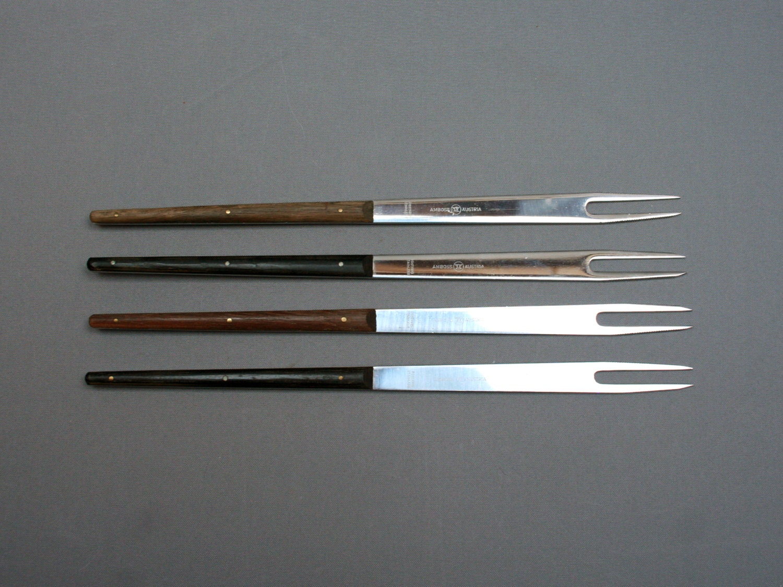 vintage carl aubock modern four fondue forks set for amboss