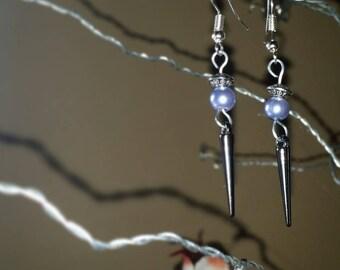 Black Acrylic spiked dangle earrings