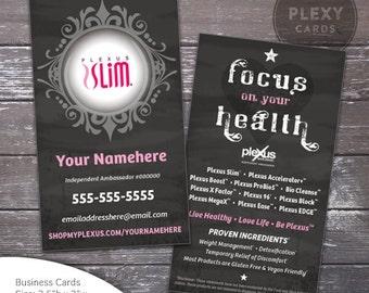 Plexus Slim Business Card - Chalkboard Design [DIGITAL FILES]