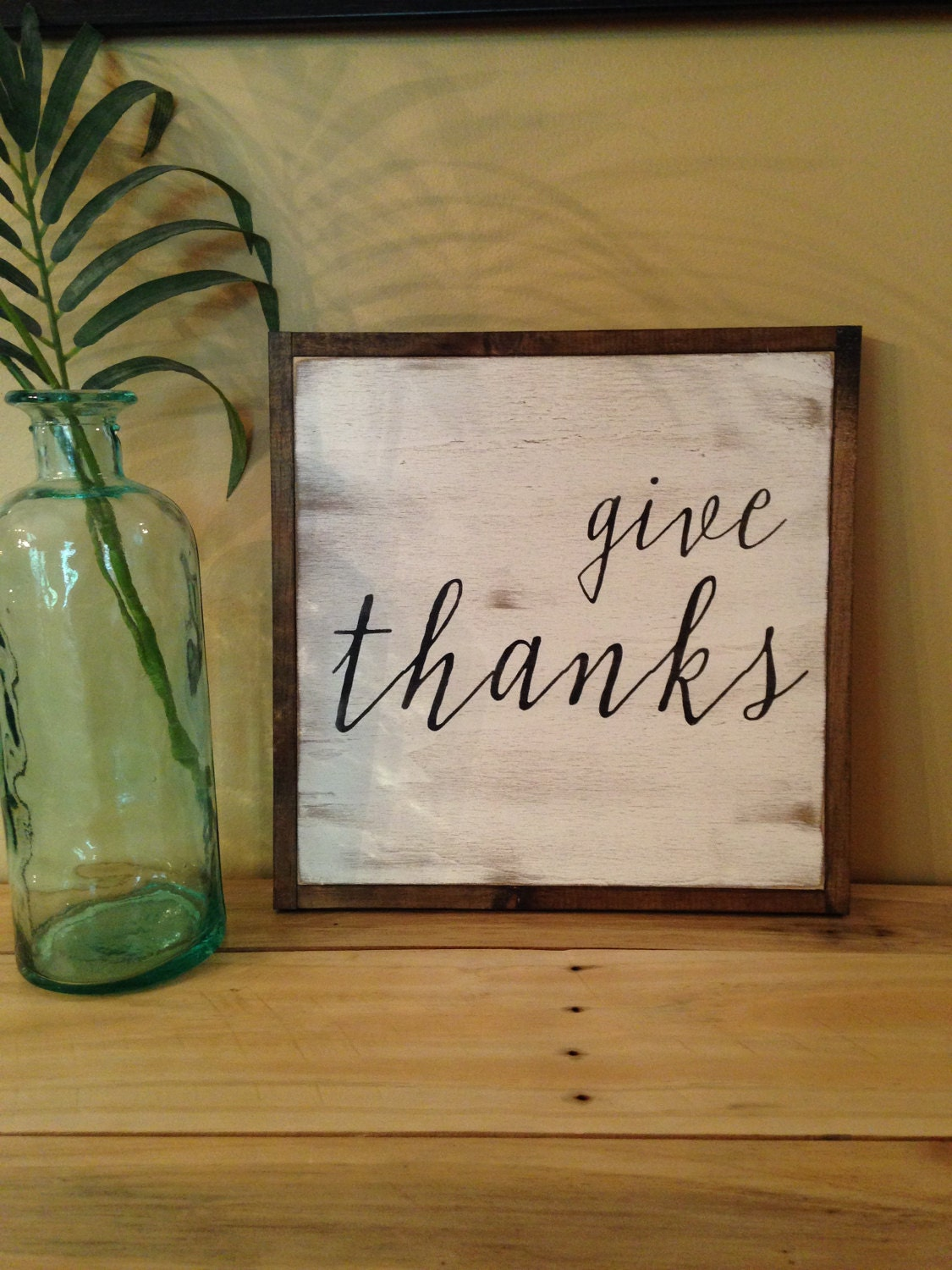 our GIVE THANKS sign is the perfect accent to your Thanksgiving buffet table