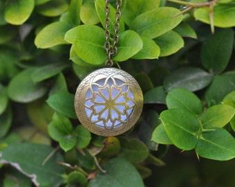 Essential Oil Diffuser Necklace, 32mm Bronze