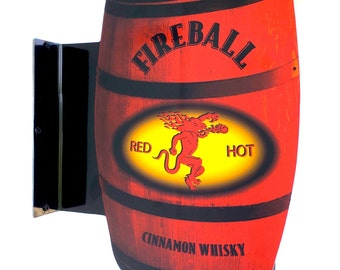 Fireball Whisky Double Sided Pub Sign