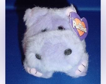Puffkins Henrietta Plush Hippopotamus 1997 with Tags