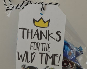 Where the Wild Things Are Gift Tag - Wild One Goodie Bag Tags