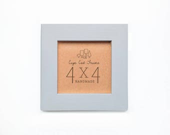 4x4 Picture Frame - Cloud - Frame for 4x4 Tiles, Instagram Prints or Needlework. Solid Wood Frame.