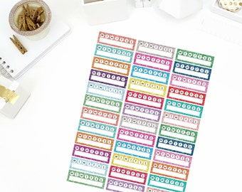 Glitter Weekly Habit Tracker Stickers! Perfect for your Erin Condren Life Planner, Filofax, Paper Plum, calendar and/or