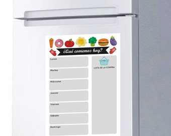 Weekly Meal Planner Board magnet for fridge