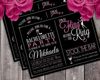 Bachelorette Party Invitation (Design #1)