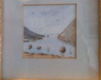 TWO original watercolours by L S Gandini