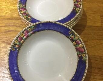 tillson ware burslem vintage bowls, fruit dishes, retro bowls ref 10