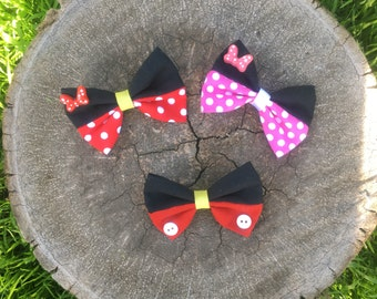 Minnie Mouse & Mickey Mouse Bows