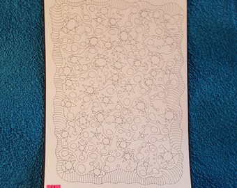 Adult Coloring Poster, Coloring book, Doodle pages, Drawing, Art coloring book