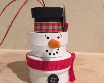 Stacked Boxes Snowman Christmas Ornament