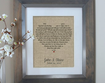 Wedding Gift Song Lyrics | 1st Anniversary Gift | Gift for Her | One Year Anniversary Gift | First Dance Song Lyrics | 10 Year Anniversary