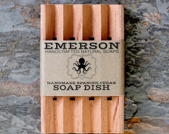 Cedar Soap Dish • Natural, Hand Cut, Fragrant Cedar Soap Dish