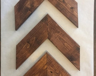 Chevron arrows rustic arrows set of 3