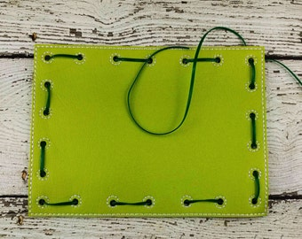 Rectangle Lacing Card, Quiet Game, Toddler Toy, Travel Toy, Party Favor