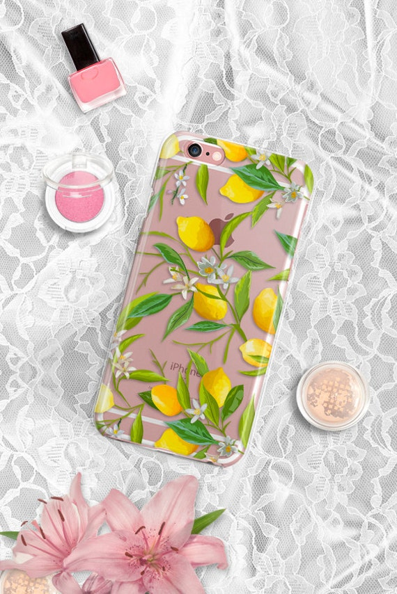 iPhone 7 Rubber Case Lemons iPhone 7 Plus Clear Case iPhone 6 Clear Case iPhone 6S Case iPhone 8 Case Rubber Samsung S7 Edge Case