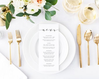 Printable Wedding Menu, Wedding Menu Printable, Printable Wedding Menu Card, Wedding Menu Cards, Wedding Menu Printable Wedding Menu