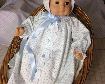 """15"""" Doll Gown and Bonnet"""