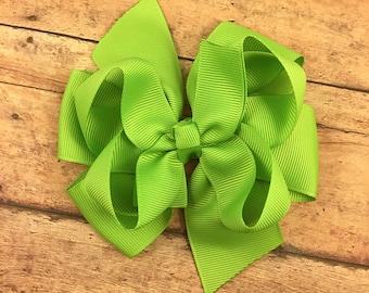 Layered hair bow / pinwheel hair bow / you pick color / 4 inch hair bow / hair bow / boutique hair bow