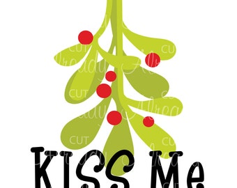 Mistletoe Christmas SVG - Instant Download
