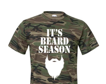 IT'S BEARD SEASON Shirt, Hunting Gifts, Gifts for Hunters, Hunting Beard, Hunting Shirt, Duck Hunting, Deer Hunting, Hunting Gifts for Men