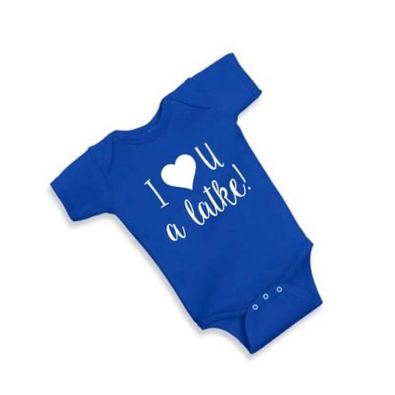 I Love You A latke, Baby Onesie, Hanukkah Gift, Hanukkah Onesie, Hanukkah Shirt, baby Hanukkah Gift, Funny Baby Onesie, Baby Gift, Baby Boy