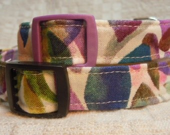 Extra Small Dog Collar / Hawaiian Dog Collar / Purple Dog Collar / Pretty  Dog Collar / Female Dog Collar / Tropical Dog Collar