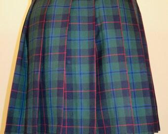 Armstrong Tartan Plaid Kilt~Ladies Plaid Kilt~Green Red Plaid Kilt~Custom Make for Wedding ~ Parade Concert  Ladies Armstron Kilt@sohoskrits