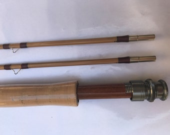 """New bamboo fly rod 6'3"""" #3,2 piece with 2 tips"""